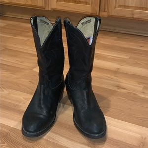 Durango western boots black leather size 10.5 EE